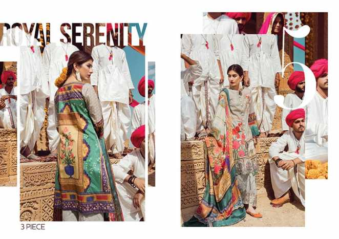 Cross Stitch 2018 Summer Lawn Unstitched Collection