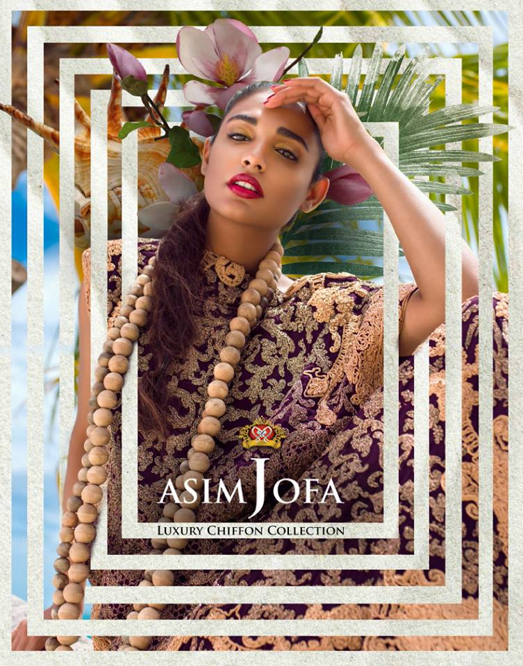 Luxury Chiffon Collection by Asim Jofa 2018 For Eid