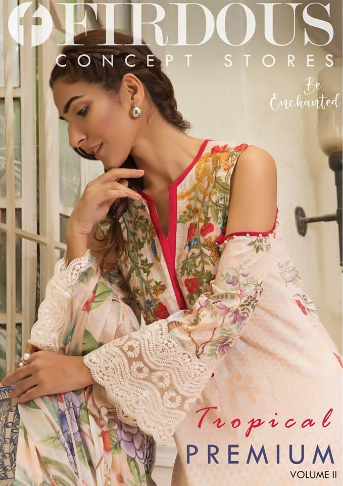 883ef99a39 Firdous Cloth Tropical Collection 2018-19 New Arrival (28) - Women ...