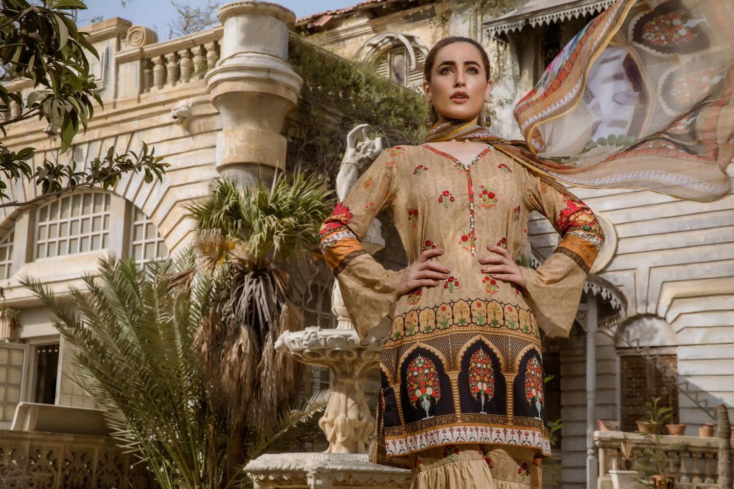 Kalyan Digital Embroidered Collection Z.S Textiles 2019