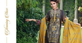 Pashmina Twill Shawal Collection By House Of Chrizma 2018-19 (2)