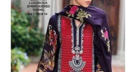 Pashmina Twill Shawal Collection By House Of Chrizma 2018-19 (4)