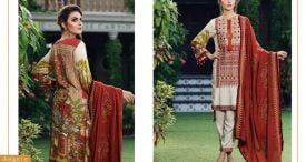 Pashmina Twill Shawal Collection By House Of Chrizma 2018-19 (7)